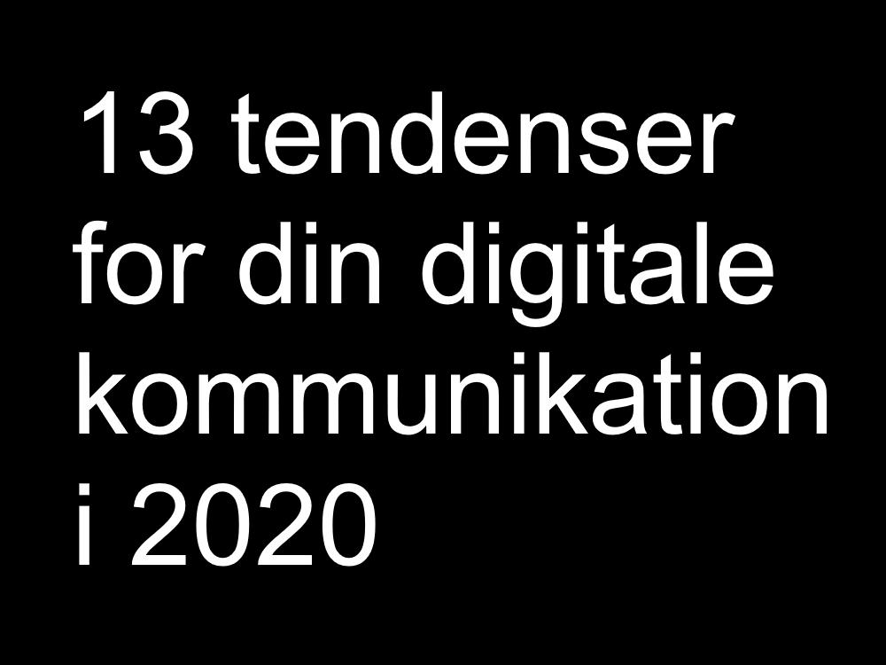 digitale tendenser