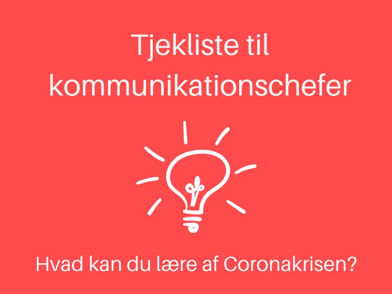 corona kommunikation